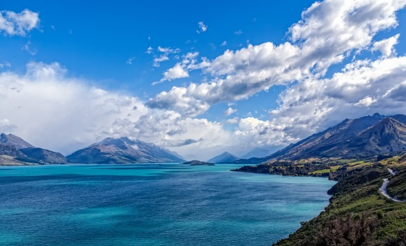 End of Lake, Whakatipu, Queenstown, New Zealand, Copyright Chris Gregory 2013