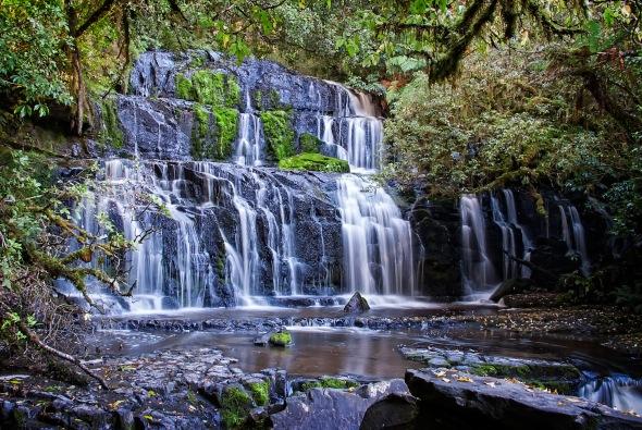 Purakaunui Falls, Catlins, Southland, New Zealand, Copyright Chris Gregory 2013