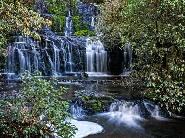Purakaunui Falls, Catlins, Southland, New Zealand, Copyright Chris Gregory 2013